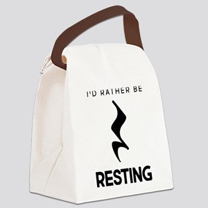 I'd Rather Be Resting Canvas Lunch Bag
