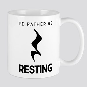 I'd Rather Be Resting 11 oz Ceramic Mug