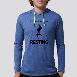 I'd Rather Be Resting Mens Hooded Shirt
