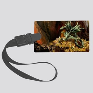 Dragons Lair poss oval Large Luggage Tag