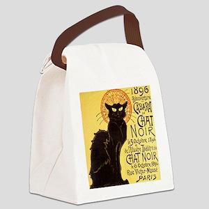 Chat Noir Cat Canvas Lunch Bag