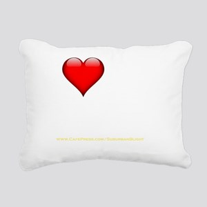 I Love My Bourbon darkap Rectangular Canvas Pillow
