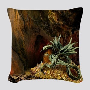 Dragons Lair full light Woven Throw Pillow