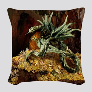 Dragons Lair Square Lt Woven Throw Pillow
