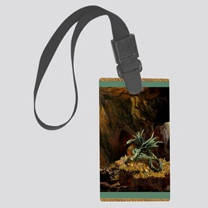 Dragon Lair greeting card green2 Large Luggage Tag