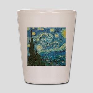 Starry Night van Gogh Shot Glass