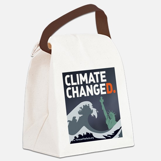 Climate ChangeD Canvas Lunch Bag