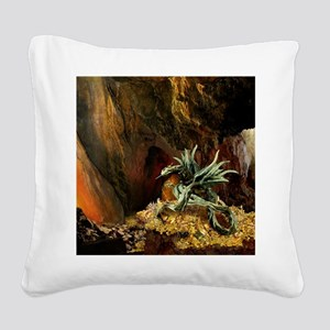 Dragons Lair Light Square Canvas Pillow