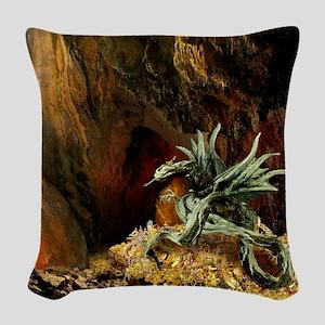 Dragons Lair Light Woven Throw Pillow