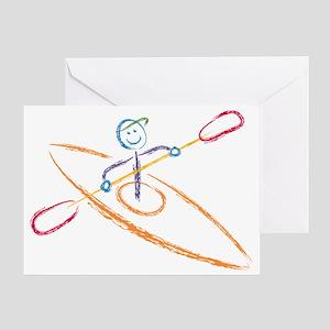Brush Kayak Greeting Card