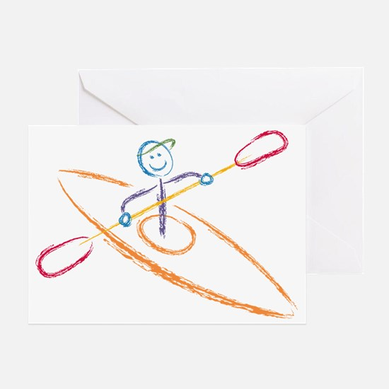 Brush Kayak Greeting Card