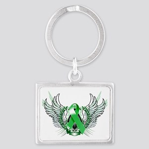 Awareness Tribal Green copy Landscape Keychain
