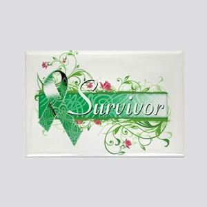 Survivor Floral copy Rectangle Magnet