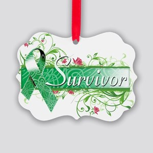 Survivor Floral copy Picture Ornament