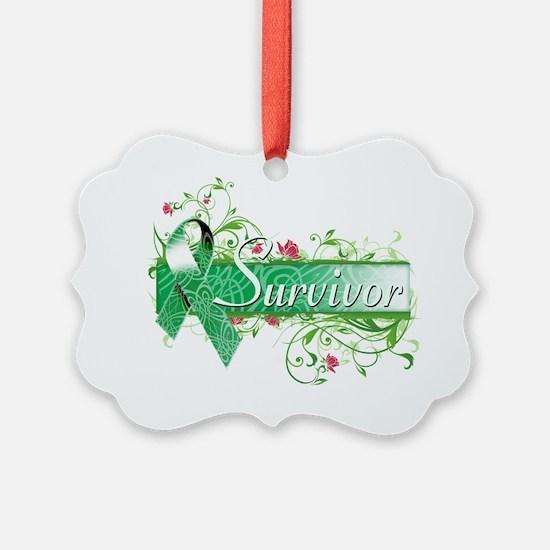 Survivor Floral copy Ornament
