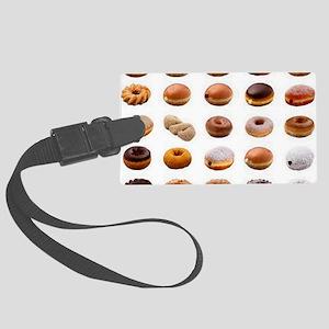 Doughnuts Large Luggage Tag