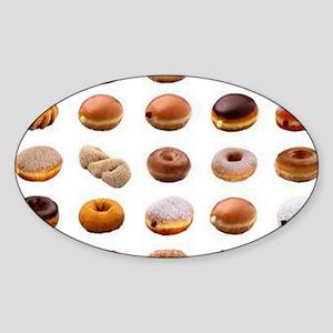 Doughnuts Sticker (Oval)