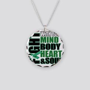 Fight copy Necklace Circle Charm