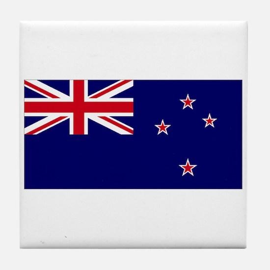 New Zealand flag Tile Coaster