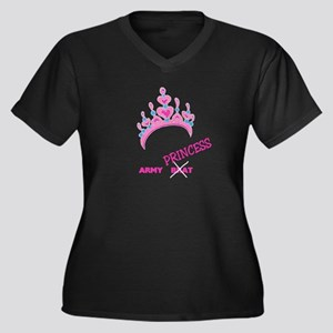 Army Brat/Princess Women's Plus Size V-Neck Dark T