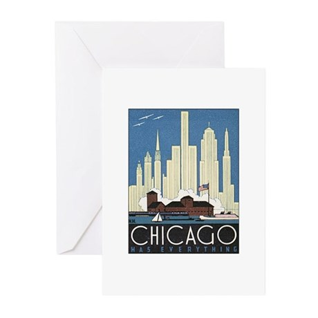 Chicago Poster Greeting Cards (Pk of 10)
