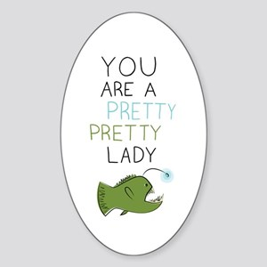 Pretty Pretty Lady Sticker (Oval)