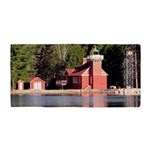 Sand Point Lighthouse Baraga Beach Towel