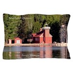 Sand Point Lighthouse Baraga Pillow Case