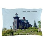 Huron Island Lighthouse Pillow Case
