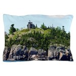 Huron Island Lighthouse Wide Angle Pillow Case