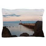 Duluth Harbor North Pier Light Pillow Case