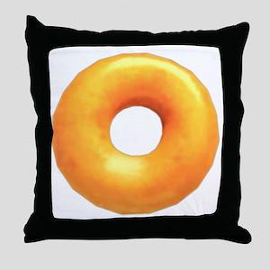 glazed donut Throw Pillow