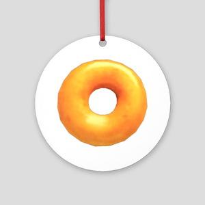 glazed donut Round Ornament