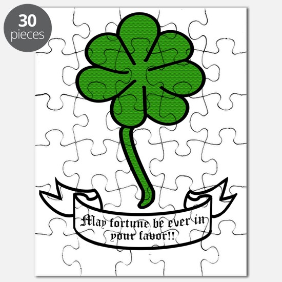 7 leaf clover - May fortune be ever in your Puzzle