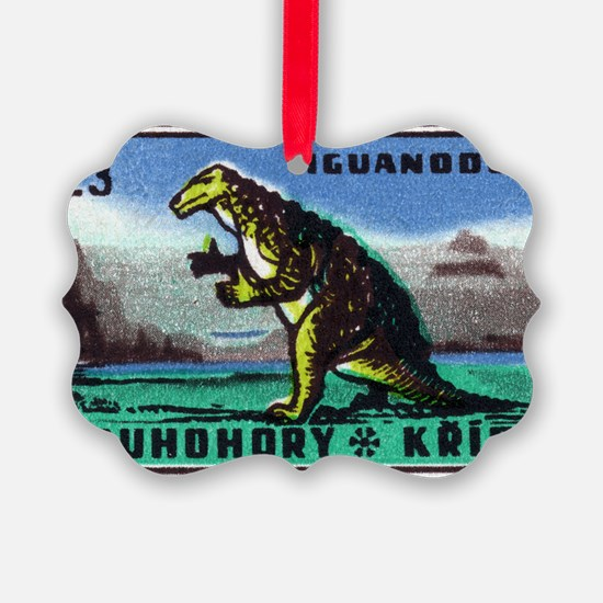 Iguanodon Dinosaur Czech Matchbox Ornament