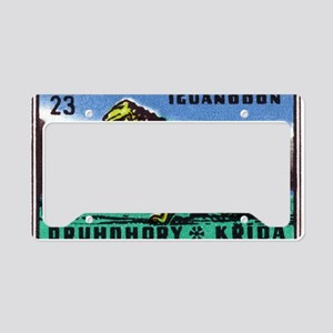 Iguanodon Dinosaur Czech Matc License Plate Holder