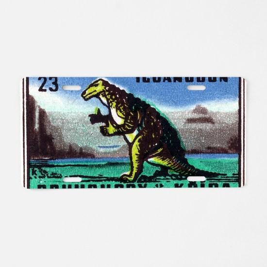Iguanodon Dinosaur Czech Ma Aluminum License Plate