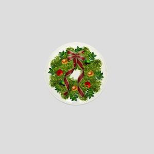 xmas wreath Mini Button