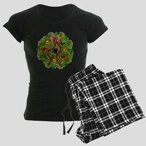 xmas wreath Women's Dark Pajamas