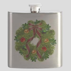 xmas wreath Flask