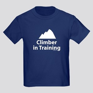 Climber in Training v2 Kids Dark T-Shirt