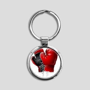 boxing gloves Round Keychain
