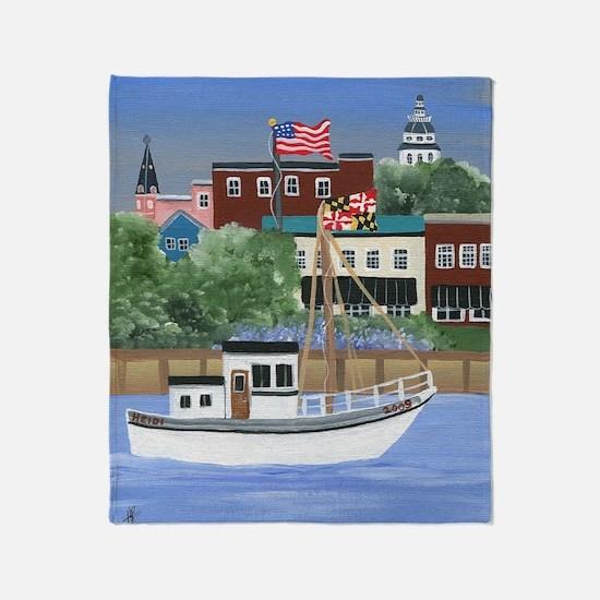 Annapolis View Throw Blanket