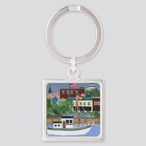 Annapolis View Square Keychain