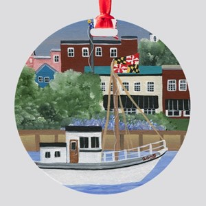 Annapolis View Round Ornament