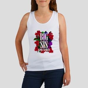 Alpha Xi Delta Big Floral Women's Tank Top