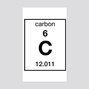 Carbon Rectangle Sticker