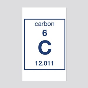 carbon rectangle sticker - Periodic Table Carbon