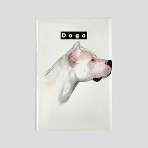 Dogo Head Rectangle Magnet