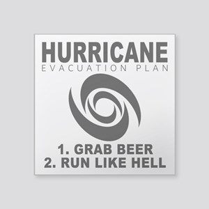 Hurricane Evacuation Plan Sticker